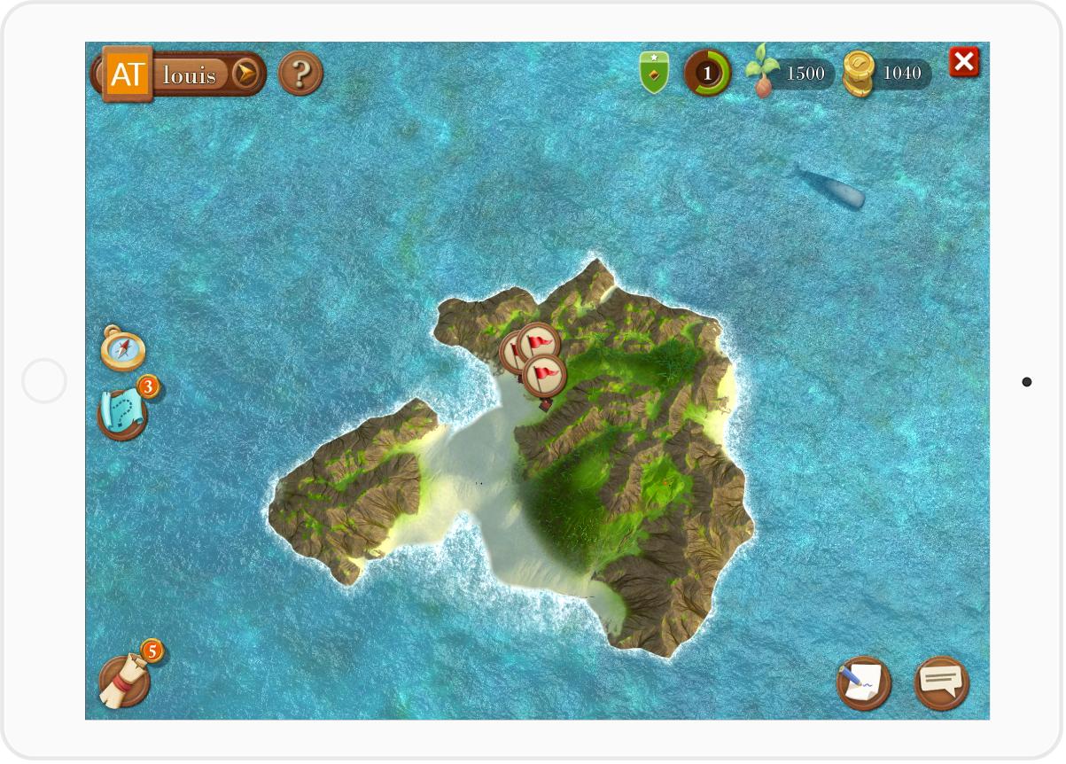 fond ipad - île guildup - vue du dessus